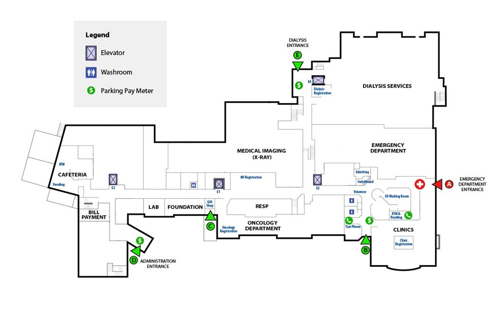 RVH interior map first floor
