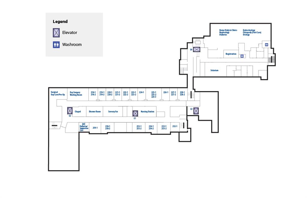 RVH interior map second floor