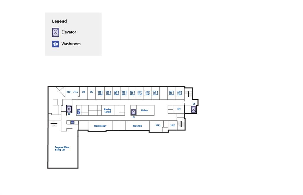 RVH interior map third floor